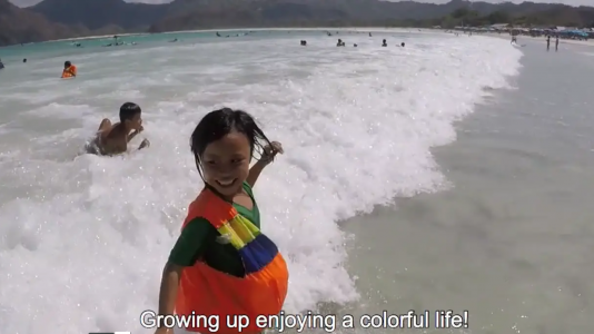 How Lombok's youngest spend their free time