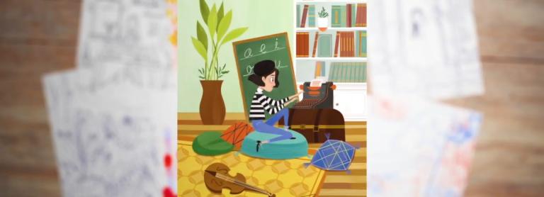 alphabet of women illustration